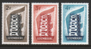 LUXEMBOURG *key* 1956 Europa set (3) MNH SG £700+ =A$1315 for just 3% catalogue!