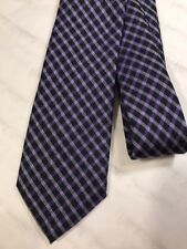 Paul Smith Tie 6cm RRP£80 Made In Italy Silk 100% Genuine Checked Purple