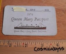 Queen Mary ship 1974 Long Beach CA VIP passport entry