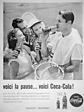 PUBLICITÉ PRESSE 1960 COCA COLA  VOICI LA PAUSE DÉLICIEUX DÉSALTÉRANT - TENNIS