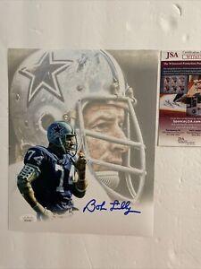 Bob Lilly Signed 8 X 10 JSA COA Dallas Cowboys HOF