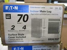 Cutler Hammer BR24L70SP, 70 Amp 240 Volt 2/4 Circuit  Load Center, NEW- E1700
