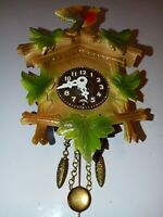 Linden West Germany Miniature Vintage Novelty Cuckoo Clock with key