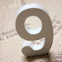 Wood White Wooden letters Alphabet Numbers For Wedding Birthday Home Decor