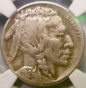 1926 S BUFFALO INDIAN HEAD NICKEL VERY SCARCE BEAUTIFUL KEY DATE *NGC VF 25 CAC*