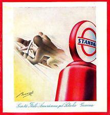 WERBUNG' BENZIN STANDARD PANDIT VERTEILER FUTURISMUS MOTO GESCHWINDIGKEIT' 1934