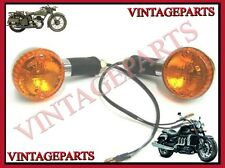PAIR OF ORANGE LENS INDICATORS/TRAFFICATORS LH/RH ROYAL ENFIELD ELECTRA BIKE