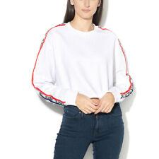 Levi's Crop Fleece White Oversized Relaxed Fit Sweatshirt Sweater Jumper Size S