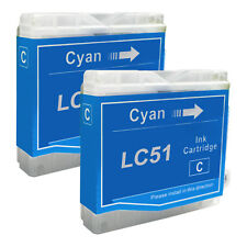 2 CYAN New LC51 Ink Cartridge for Brother MFC-230C MFC-235C MFC-240C MFC-260C