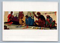 1962 WOMEN OF TURKMENISTAN weave a carpet Ethnic Asia Soviet USSR Postcard