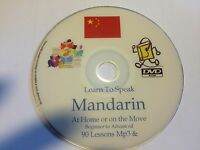 Learn to Speak Mandarin Chinese a complete Mp3  & PDF course on DVD disc