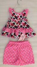 NWT Laura Dare Pink Floral Dot Print Pajamas Set size 3T