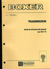 (120) MANUEL ATELIER RÉPARATION PEUGEOT BOXER TRANSMISSION BVM ME5TU du 11-1994