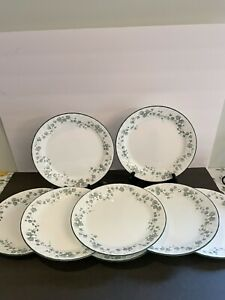 """8 Pc Corelle Callaway Ivy Dinner Plates 10"""" Preowned Good Condition"""