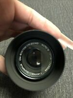 Olympus OM-System F Zuiko Auto-S 1:1.8 50mm Lens