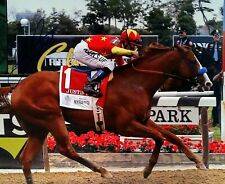 Mike Smith signed autograph Justify 8x10 Belmont Stakes 2018 triple crown