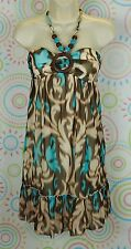 New Women Spaghetti Halter Neck Chiffon Dress Size S Small NWOT