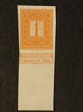 1912 Belgium - Imperf Proof Sc#92 , 1c Mnh