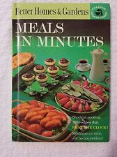 1963 better homes and gardens Meals in Minutes cookbook hardcover vintage quick
