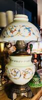 Rare Antique Parlor Oil Lamp GRIFFINS Motif Duplex Burner Patent 1885