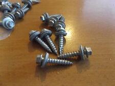 Acme Self Tapping Cabeza Hexagonal tornillos cautivos Suelto Arandela Cinc Plateado