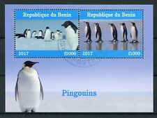 Benin 2017 CTO Penguins 2v M/S Pingouins Birds Stamps