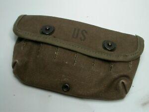 Antique WWII US Army Canvas Ammo Shotgun Ammunition Pouch