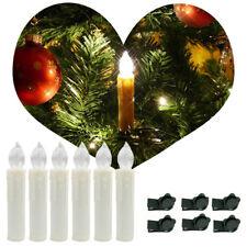 50X Warmweiß Kabellose LED Weihnachtskerzen Lichterkette Kerzen Christbaumkerzen