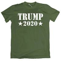 Trump 2020 Men`s Tee Shirt President Political Election 100% Cotton T-Shirt