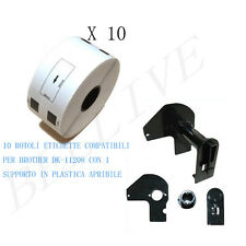 10 Etichette per Brother DK-11208 38mm X 90mm QL1000 series QL 710 QL 720NW
