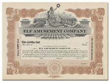 Elf Amusement Company Stock Certificate