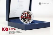 Georgia 10 Lari 2018 100 Years Independence Silver Proof AMAZING Collector Coin!