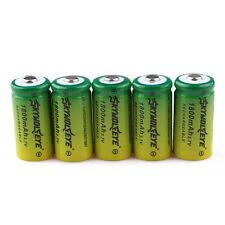 6pcs SKYWOLFEYE 16340 CR123A LR123A 3.7V 1800mAh Rechargeable Li-Ion Battery