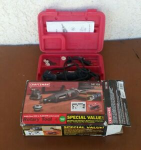 Craftsman Variable Speed Rotary Tool 572.610950 with Case & a few Accessories