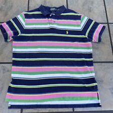 Polo Ralph Lauren short sleeve Extra large Multi  striped shirt golf polo XL