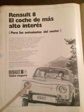 Publicidad Automóvil Renault 8 de 1971