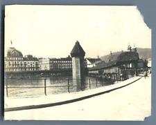 Suisse, Lucerne  Vintage silver print.  Tirage argentique d'époque  8x1
