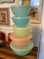 New listing 10 Pc Vintage Tupperware Pastel Wonderlier Nesting Mixing Bowl Set