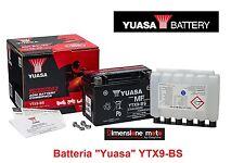 "Batteria YUASA YTX9-BS 12V 8Ah ""MF"" Sigillata per Malaguti Centro 50 4T dal 2008"