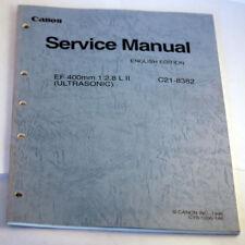 Canon Lens Service Manual EF 400mm f/2.8 L II Ultrasonic C21-8382 (1996)