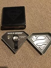 DEATH OF SUPERMAN DC Comics Fossil Limited Edition Watch & Pin