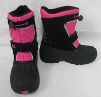 92a0538043ced Totes Kids Josie Black/Pink Winter Snow Boots - Girl's Size 5 - NEW ...