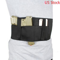 Concealed Carry Tactical Belly Band Holster with Magazine Pouch&2 Elastic Straps