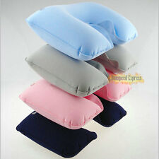1pc Inflatable Neck U Pillow Car Cushion Air Rest Compact Travel Work Sleeping