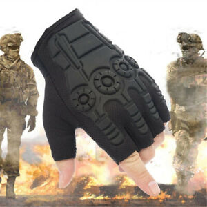 Hard Knuckle Half Finger Tactical Gloves Military Outdoor Sports Hunting Climb