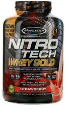 2 bottles x Muscletech Nitro Tech 100 Whey Gold Strawberry, 5.53 lbs (2.51 kg)