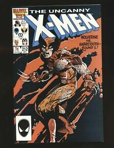 Uncanny X-Men # 212 - Wolverine & Sabretooth Mutant Massacre NM- Cond.