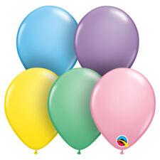 "BIRTHDAY BALLOONS 100 x 11"" QUALATEX PASTEL ASSORTMENT PROFESSIONAL BALLOONS"