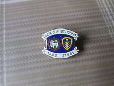 LEEDS United v MARITIMO UEFA Cup 2001 Round 1 Both Games FOOTBALL Pin Badge