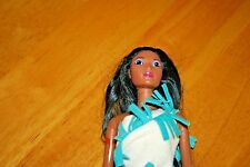 1995 Disney's Color Splash Pocahontas Doll/Used/No Box or shoes-Sold As Is